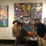 Eric Pflug and Brian Hewlett at Scramble Campbell Art Show in Denver