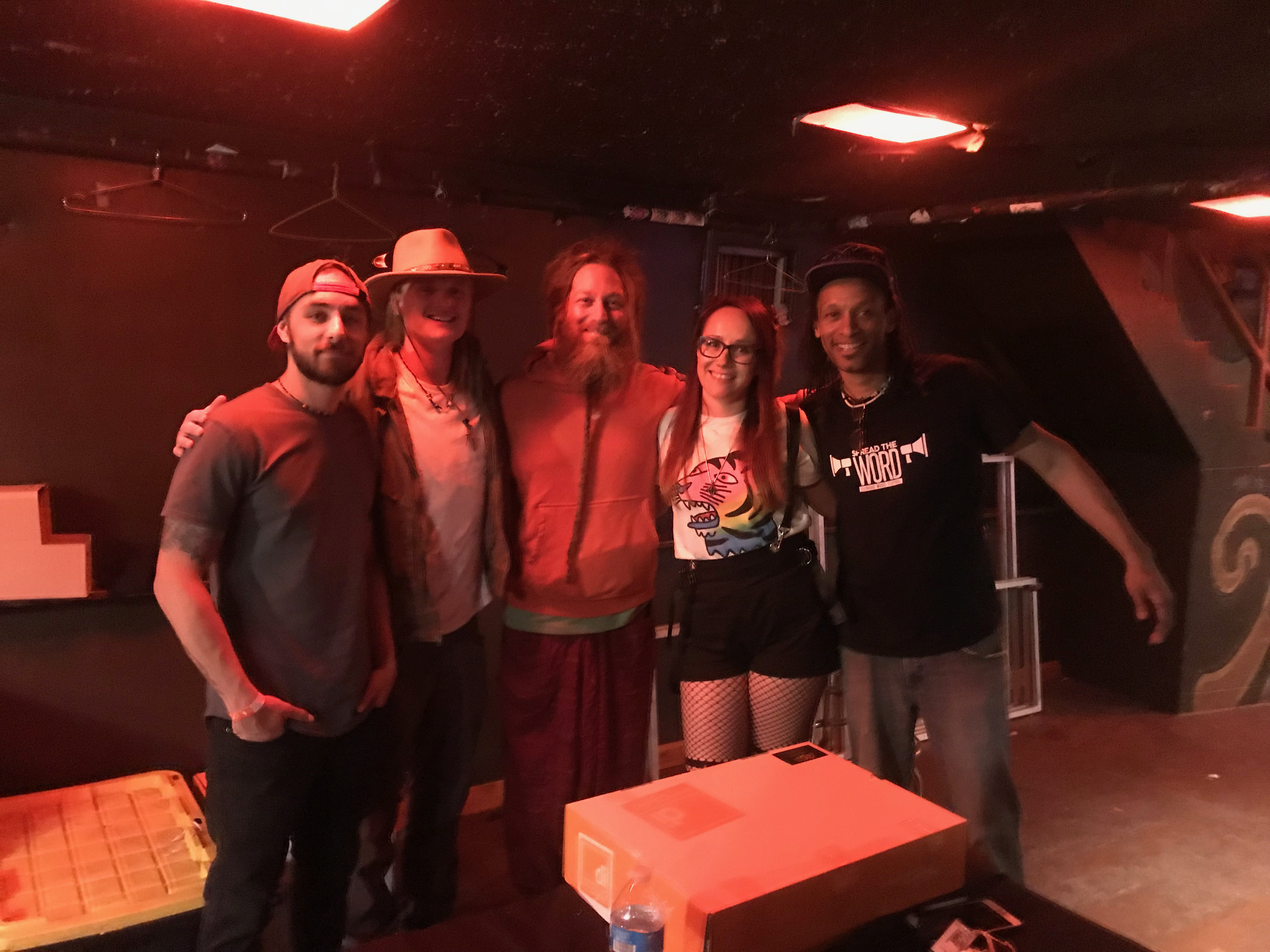 Nick Brown, Eric Pflug, & Brian Hewlett with Mike Love at Spread The Word Music Festival