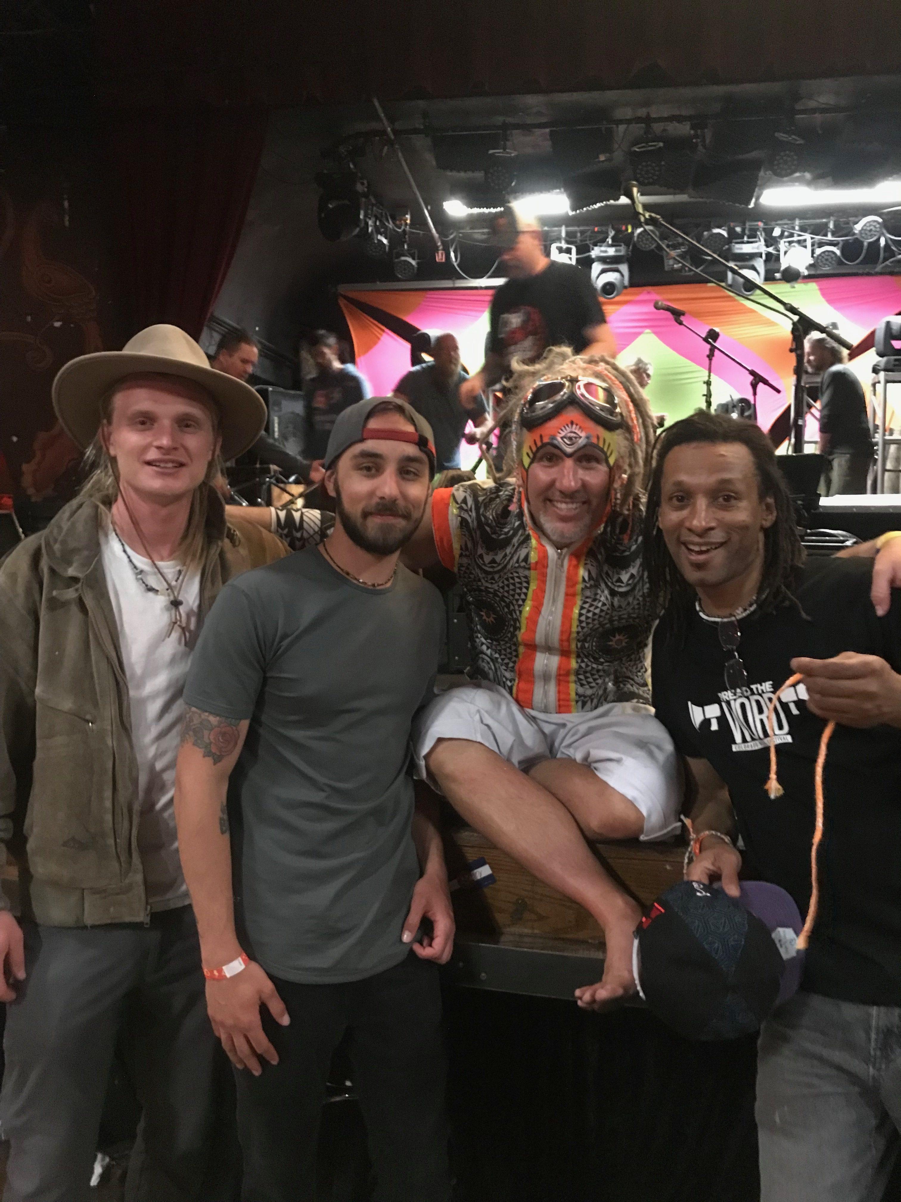 Eric Pflug, Nick Brown, & Brian Hewlett with Mark Murphy of Wookiefoot
